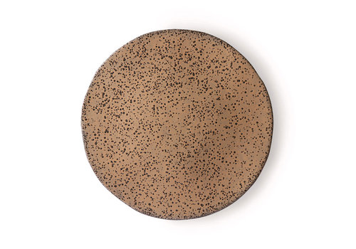 HKLIVING gradient ceramics: dinner plate taupe ace6895
