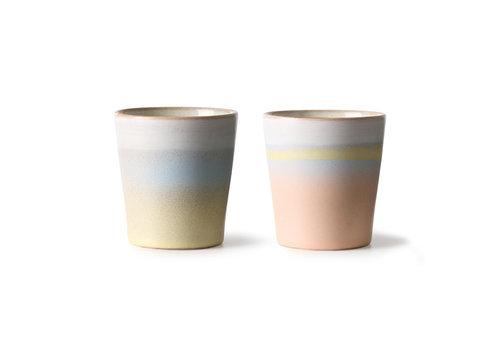 HKLIVING Suites Special: ceramic 70's mugs 'horizon'  set of 2