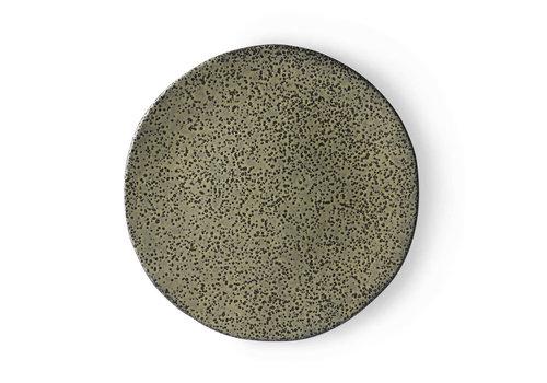 HKLIVING gradient ceramics: dinner plate green