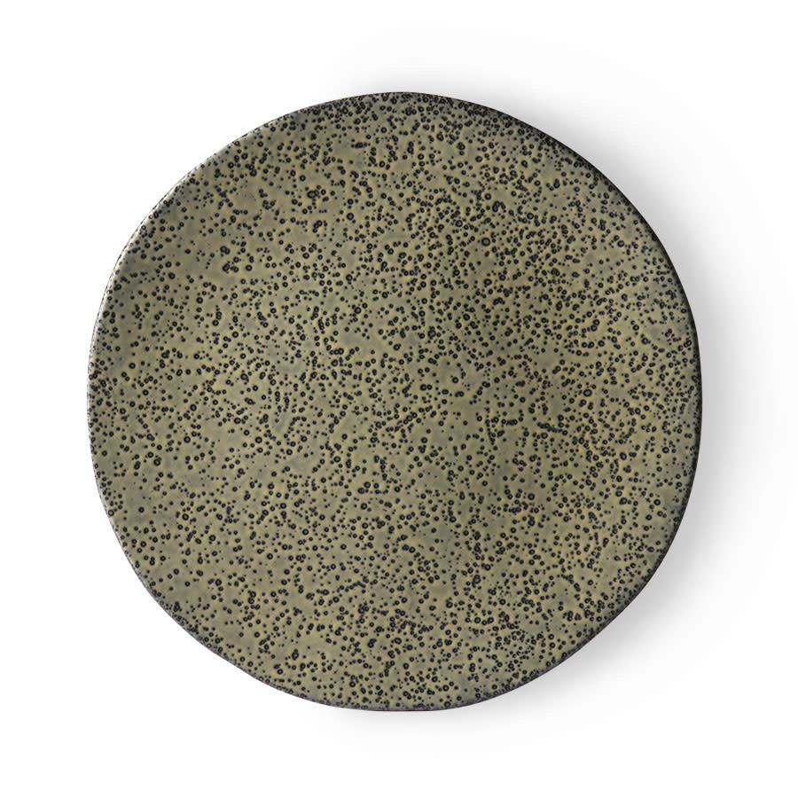 gradient ceramics: dinner plate green-1