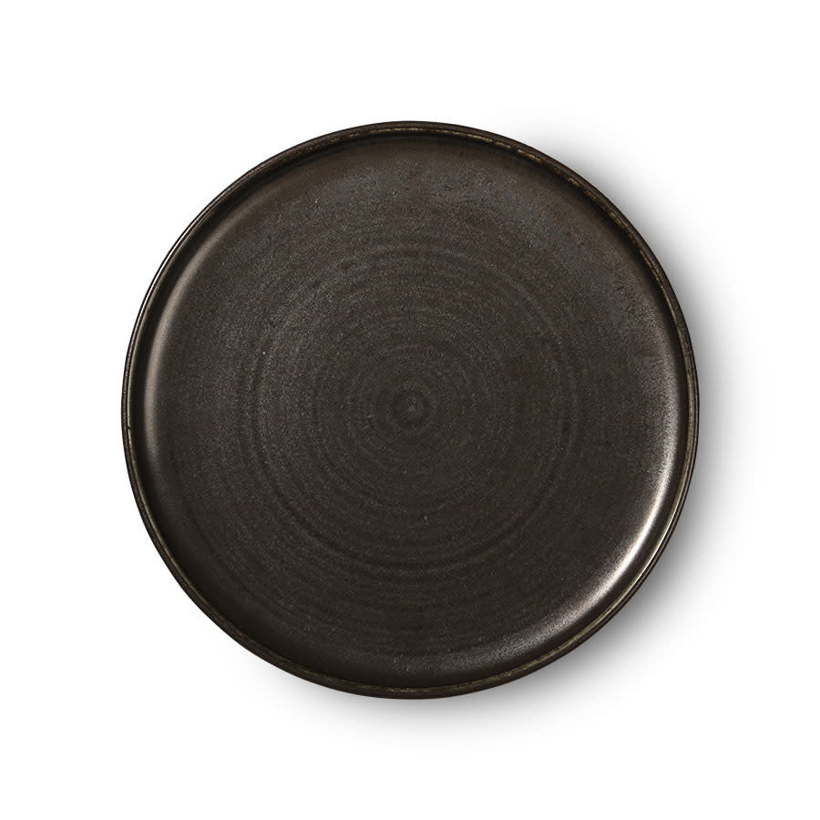 Kyoto ceramics: rustic dinner plate black-1