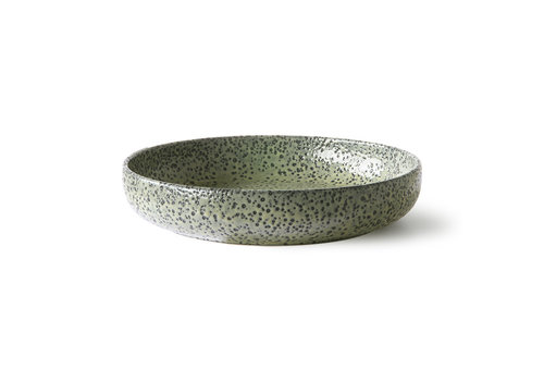 HKLIVING gradient ceramics: deep plate green