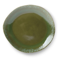 thumb-ceramic 70's dinner plate green-1