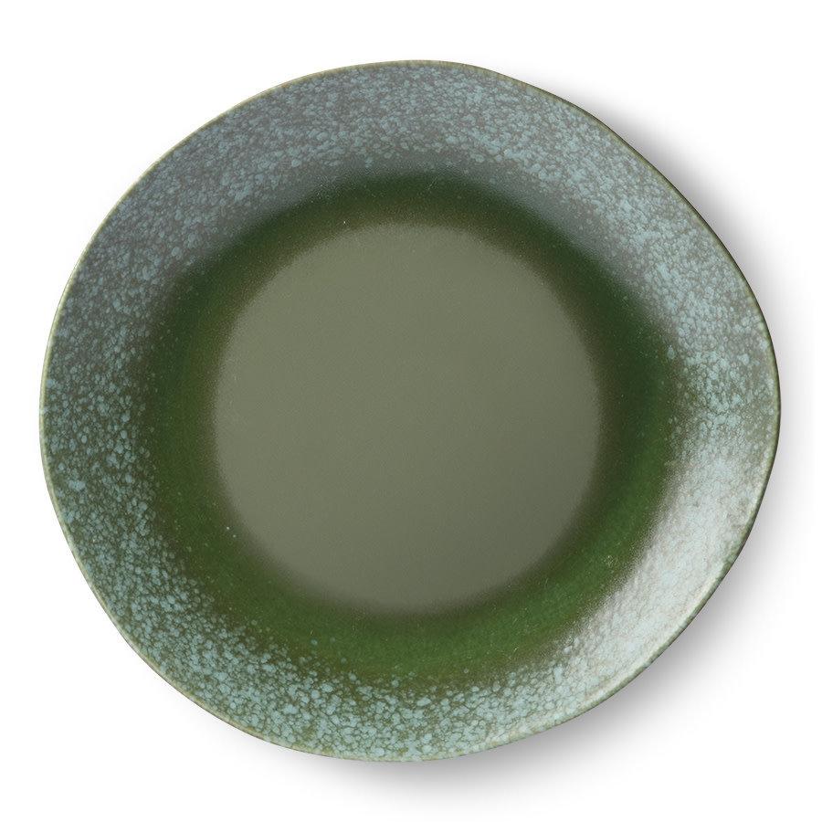 ceramic 70's dinner plate green-2