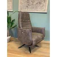thumb-TH fauteuil Puck Dark brown Eco leer-1