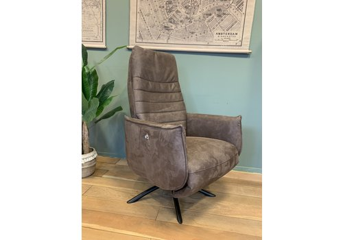 THUISHAVEN TH fauteuil Puck Dark brown Eco leer