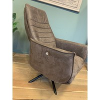 thumb-TH fauteuil Puck Dark brown Eco leer-2