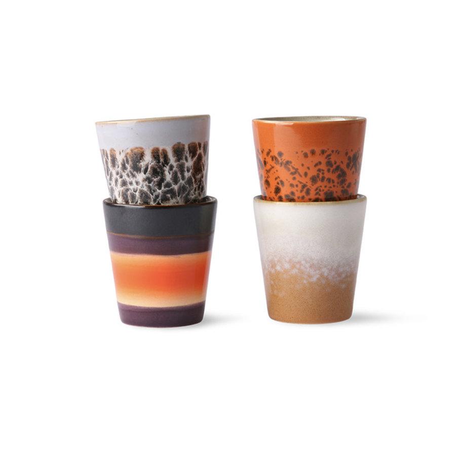 ceramic 70's ristretto mugs (set of 4) ju/pa/bi/re-1