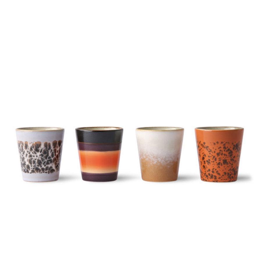 ceramic 70's ristretto mugs (set of 4) ju/pa/bi/re-2