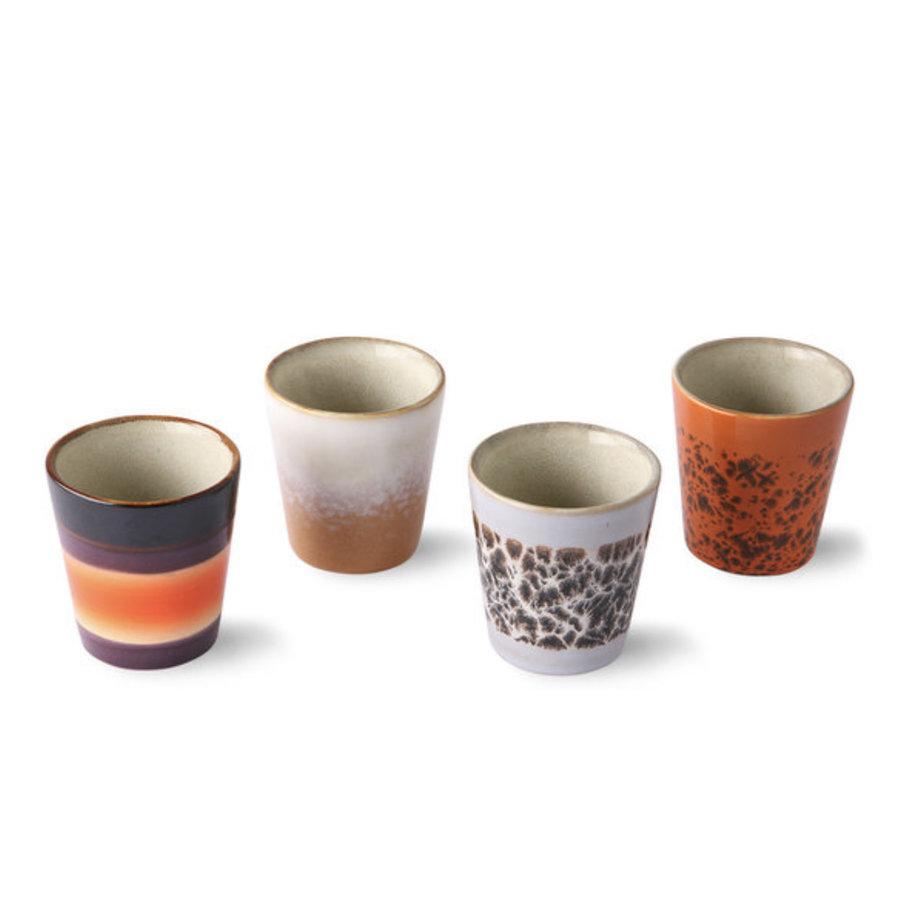 ceramic 70's ristretto mugs (set of 4) ju/pa/bi/re-3