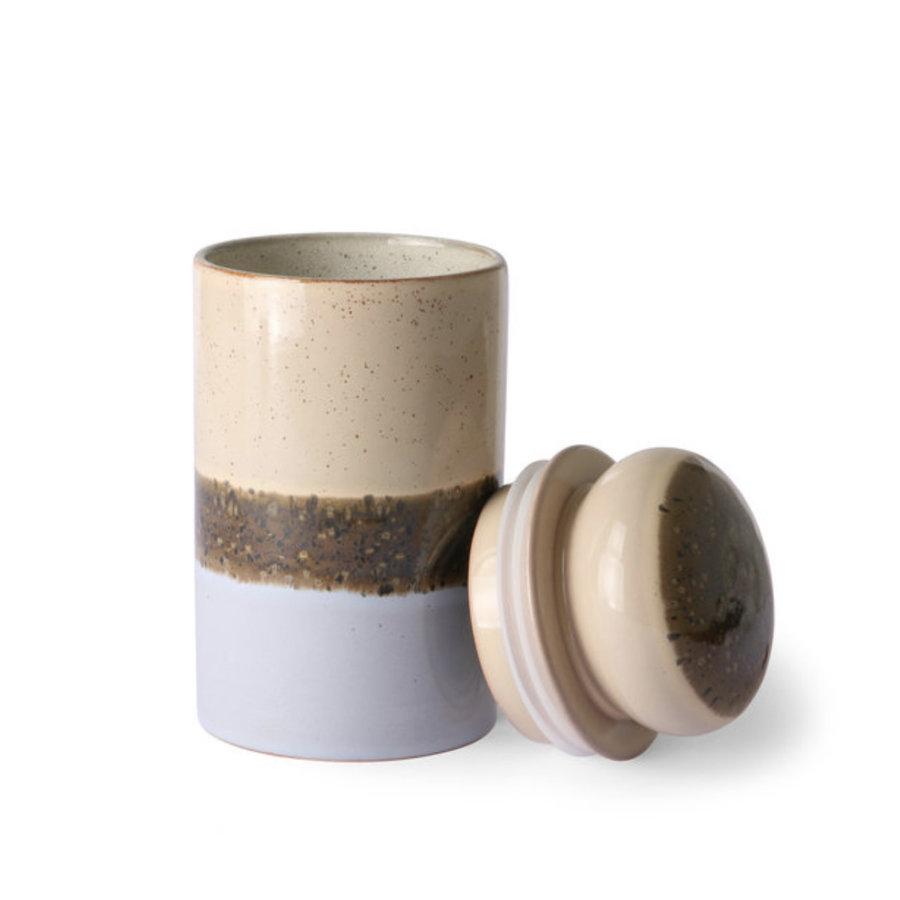 ceramic 70's storage jar: lake ace6964-2