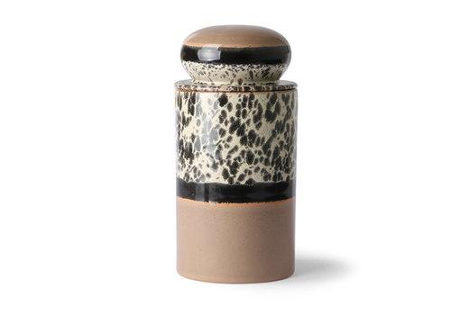 HKLIVING ceramic 70's storage jar: tropical
