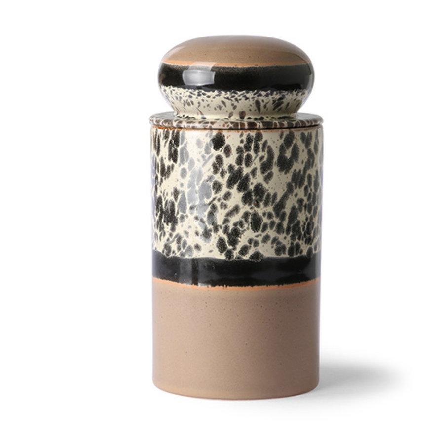 ceramic 70's storage jar: tropical ace6965-1