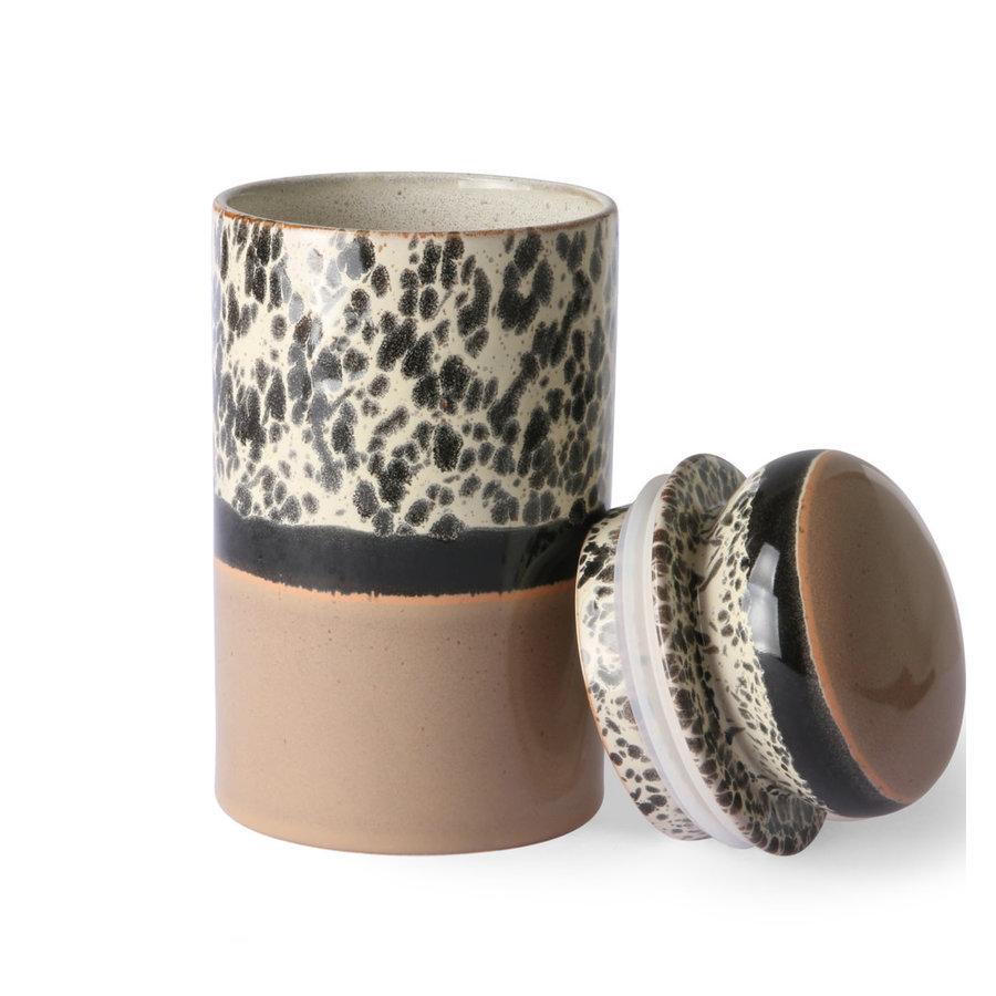 ceramic 70's storage jar: tropical ace6965-2