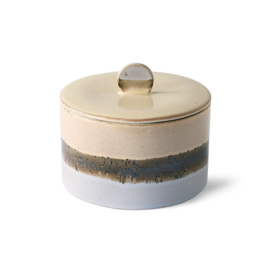 ceramic 70's cookie jar: lake ace6790-1