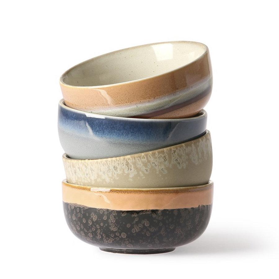 ceramic 70's bowls medium (set of 4) ba/st/la/oc-1