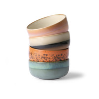 thumb-ceramic 70's dessert bowls ( set van 4 stuks) mo/pa/to/pi.-1