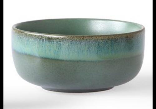 HKLIVING ceramic 70's dessert bowls p/st  ace6956d moss