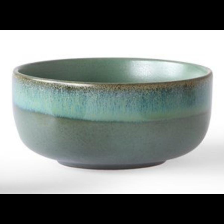 ceramic 70's dessert bowls p/st  6956d moss-1