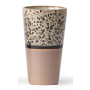 HKLIVING ceramic 70's latte mug  p/st reef 6953a