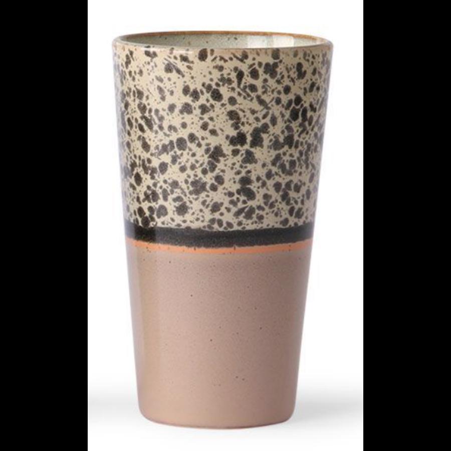 ceramic 70's latte mug  p/st reef 6953a-1
