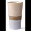 HKLIVING ceramic 70's latte mug  p/st lake 6953b 7,5x7,5x13cm
