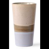 ceramic 70's latte mug  p/st lake 6953b