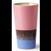 HKLIVING ceramic 70's latte mug blauw