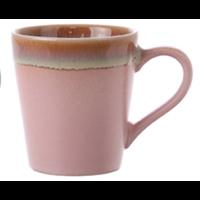 ceramic 70's espresso mug pink ace6772