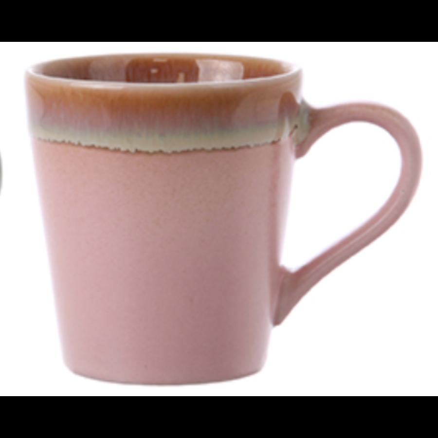 ceramic 70's espresso mug pink ace6772-1