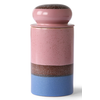 HKLIVING ceramic 70's storage jar: reef