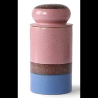 ceramic 70's storage jar: reef