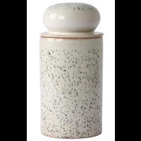 ceramic 70's storage jar: hail ace6959