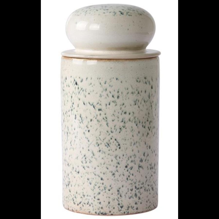 ceramic 70's storage jar: hail ace6959-1