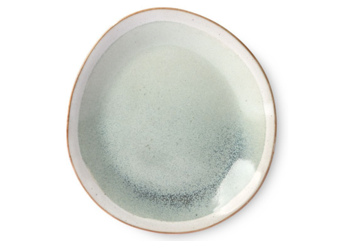 HKLIVING ceramic 70's side plate: mist