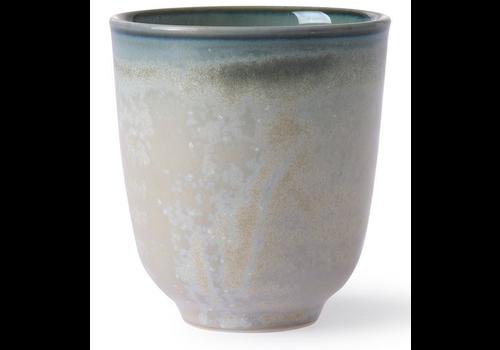 HKLIVING home chefs ceramics mug grey/green ace6929