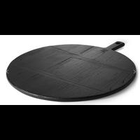 black bread board round L abr2214
