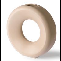 ceramic circle vase L sand ace6960