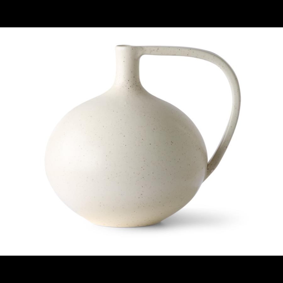 ceramic jar M white speckled-1