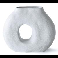 organic circle vase matt ice blue