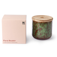 ceramic scented candle: floral boudoir