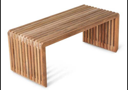 HKLIVING slatted bench teak MZM4986