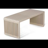 slatted bench /element white