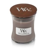 WoodWick Black amber & citrus medium candle