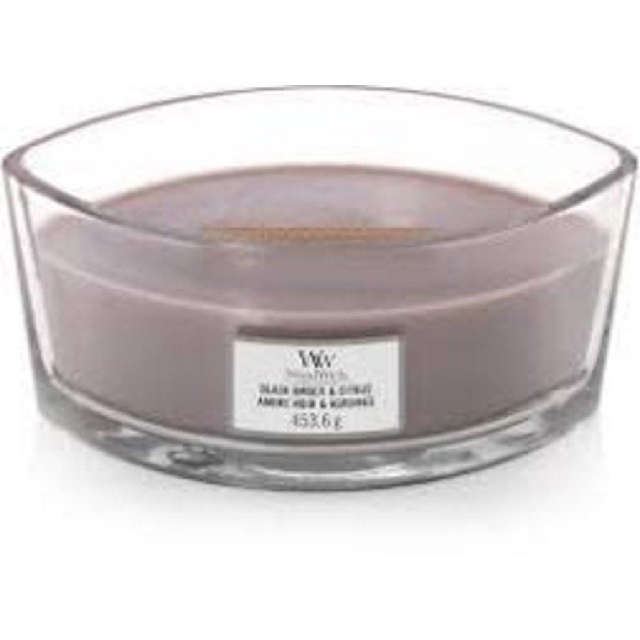 WoodWick Black amber & citrus ellipse candle-1