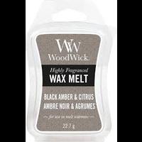WoodWick Black amber & citrus wax melts