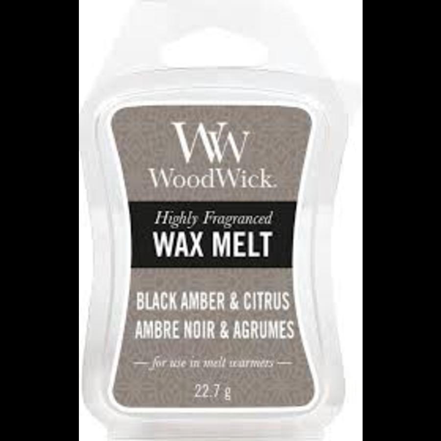 WoodWick Black amber & citrus wax melts-1