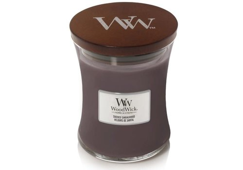 WOODWICK Sueded Sandalwood Medium Candle