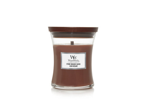 WOODWICK Stone Washed suede mini candle