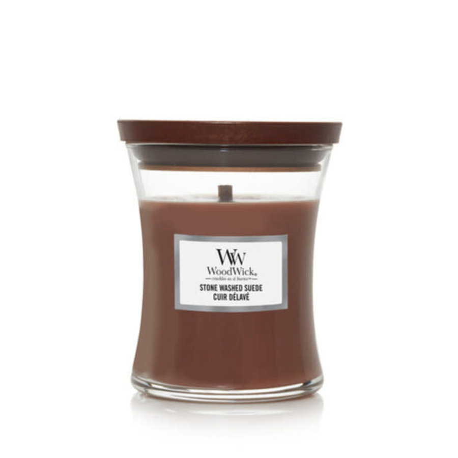 Stone Washed suede mini candle-1